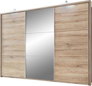 ORMAR - VISEĆA KLIZNA VRATA - Boja aluminijuma/Boja hrasta, Dizajnerski, Plastika/Pločasti materijal (279/215/62cm) - Xora