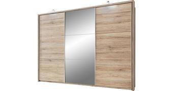 ORMAR S KLIZNIM VRATIMA - boje hrasta/boje aluminija, Design, drvni materijal/plastika (279/215/62cm) - Xora