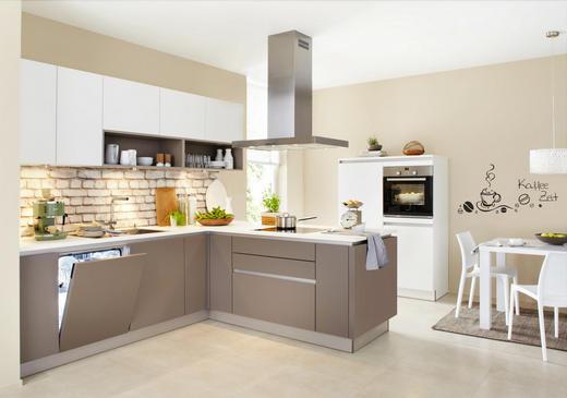 Einbauküche schlammfarben weiß design nolte küchen