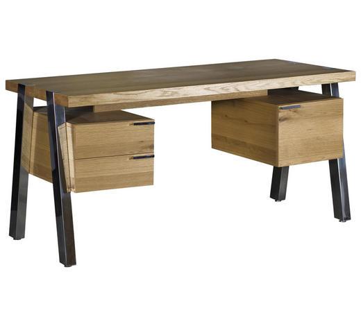 SCHREIBTISCH - Chromfarben/Eichefarben, Design, Holz/Holzwerkstoff (188/76/150cm)