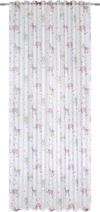 DĚTSKÝ ZÁVĚS - růžová/zelená, Konvenční, textil (140/245cm) - MY BABY LOU