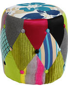 TABURE, tekstil večbarvno  - črna/večbarvno, Design, umetna masa/tekstil (40/41/40cm) - Landscape