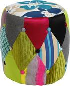 TABURE - višebojno/crna, Design, tekstil/plastika (40/41/40cm) - HOM IN