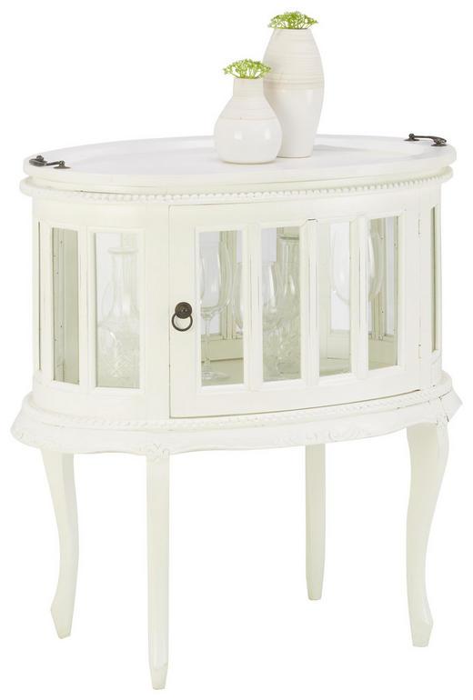 BEISTELLTISCH in Weiß - Weiß, Trend, Glas/Holz (75/77,5/50cm) - Ambia Home