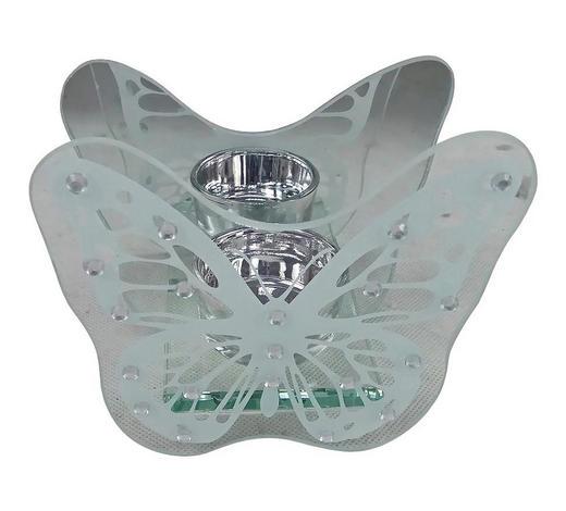 TEELICHTHALTER - Klar/Silberfarben, Basics, Glas (12/11/6cm) - Ambia Home
