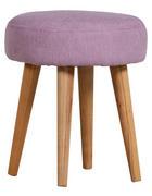 HOCKER Flachgewebe Altrosa  - Altrosa/Naturfarben, Design, Holz/Textil (36/42cm) - Carryhome