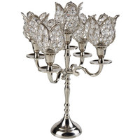 LJUSSTAKE - klar/silver, Lifestyle, metall/glas (29/42/29cm) - Ambia Home