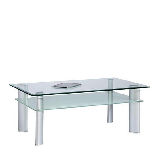 SOFFBORD - kromfärg/transparent, Design, metall/glas (110/43/65cm) - XORA