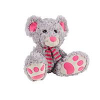 ZVÍŘÁTKO PLYŠOVÉ - šedá/růžová, Basics, textilie (23cm) - My Baby Lou