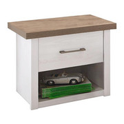 NOČNÍ STOLEK, barva lanýžového dubu, bílá - bílá/barvy grafitu, Lifestyle, kov/dřevěný materiál (51/46/43cm) - Carryhome