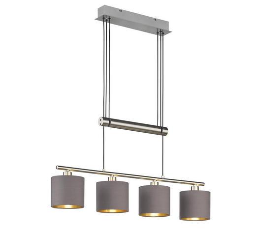 HÄNGELEUCHTE - Taupe/Goldfarben, Design, Textil/Metall (77/150/13,5cm)