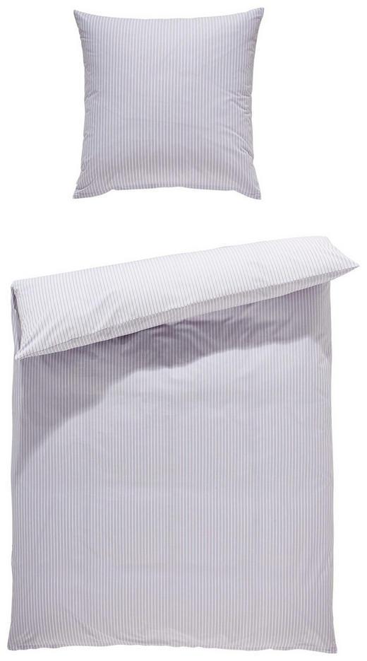 BETTWÄSCHE Perkal Silberfarben - Silberfarben, KONVENTIONELL, Textil (155/220cm) - Estella