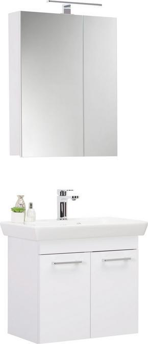 BADRUM - vit, Klassisk, glas/träbaserade material (65cm) - Low Price