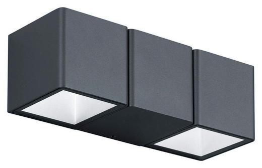 LED-AUßENLEUCHTE - Dunkelgrau/Weiß, Design, Kunststoff/Metall (22,5/7,5/7,5cm)