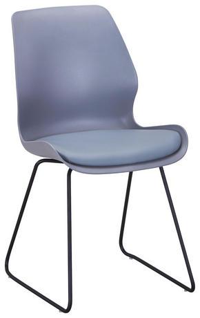 STOL - grå/svart, Design, metall/textil (48/87/55cm) - Ti`me