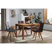 STOLICA - boje hrasta/smeđa, Konvencionalno, drvo/tekstil (48/88/59cm) - Ti`me