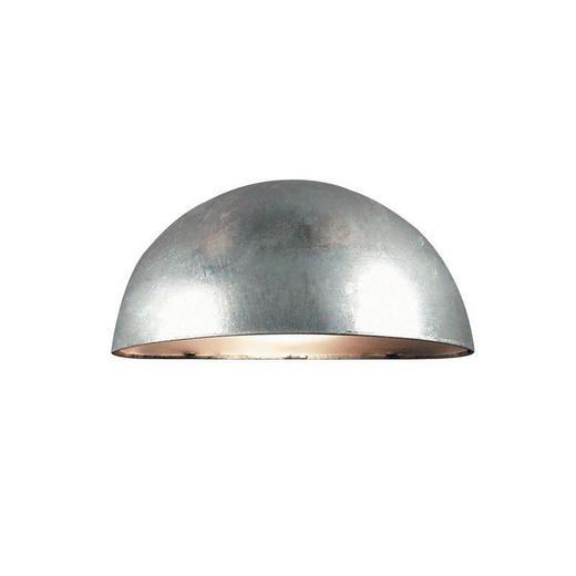 AUßENLEUCHTE Zinkfarben - Zinkfarben, Design, Glas/Metall (20/10cm)