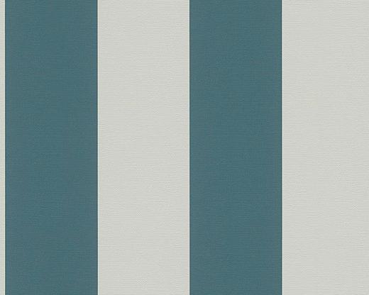 VLIESTAPETE 10,05 m - Petrol/Creme, Design, Textil (53/1005cm)