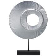 SKULPTUR - Silberfarben/Schwarz, Basics, Holzwerkstoff/Metall (25/36/6cm) - Ambia Home