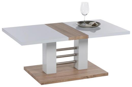 COUCHTISCH rechteckig Eichefarben, Weiß - Eichefarben/Weiß, Design (110/44/60cm) - Carryhome