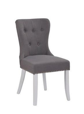 STOL - vit/kromfärg, Klassisk, trä/textil (49/95/63cm) - Rowico