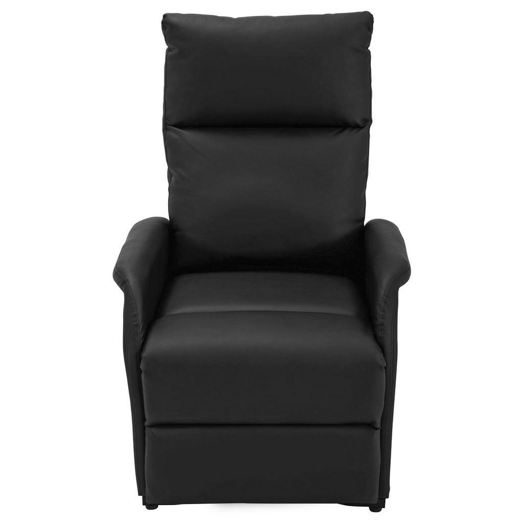Carryhome FERNSEHSESSEL Lederlook Schwarz   Wohnzimmer > Sessel > Fernsehsessel   Schwarz   Textil   Carryhome