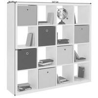 RAUMTEILER Weiß  - Weiß, Design (147/147/38cm) - Carryhome