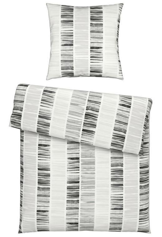 BETTWÄSCHE Grau, Weiß 135/200 cm - Weiß/Grau, Design, Textil (135/200cm) - Novel