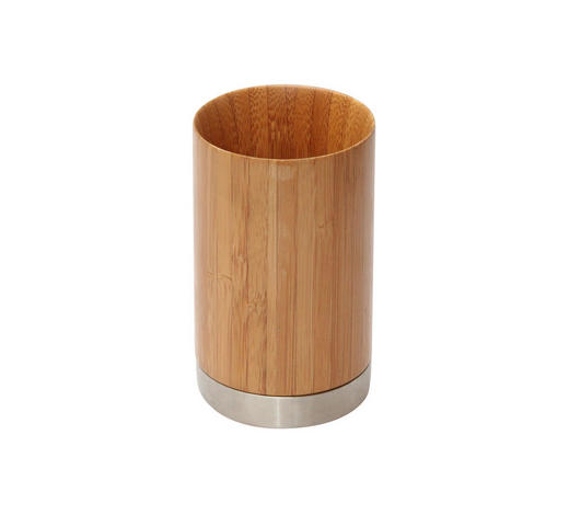 ZAHNPUTZBECHER - Holz/Metall (6,5/11cm)