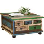 COUCHTISCH in Holz, Holzwerkstoff 88/88/47 cm  - Multicolor/Braun, Design, Holz/Holzwerkstoff (88/88/47cm) - Carryhome