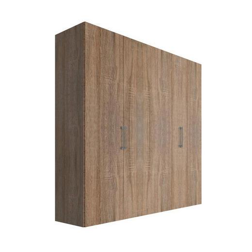 DREHTÜRENSCHRANK 4  -türig Sonoma Eiche - Alufarben/Sonoma Eiche, KONVENTIONELL, Holzwerkstoff/Metall (200/216/58cm) - Hom`in