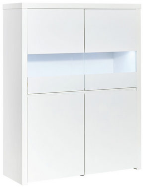 HIGHBOARD - vit, Design, träbaserade material (110/145,5/40cm) - Carryhome