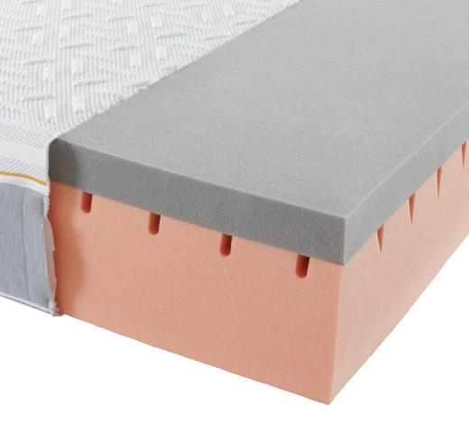 GELSCHAUMMATRATZE 160/200 cm - Weiß/Grau, Basics, Textil (160/200cm) - Sembella