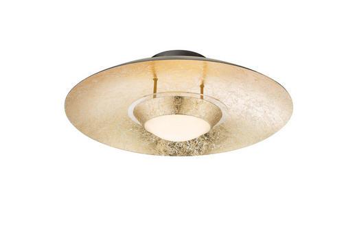 LED-DECKENLEUCHTE - Goldfarben/Schwarz, Design, Kunststoff/Metall (40cm)