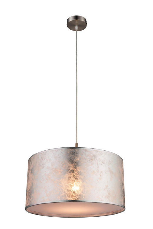 HÄNGELEUCHTE - Silberfarben, MODERN, Kunststoff/Textil (40/140cm)