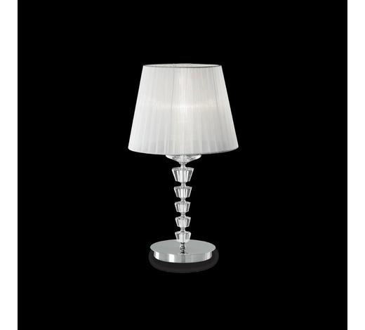 TISCHLEUCHTE - Weiß, Design, Glas/Textil (30/55cm)
