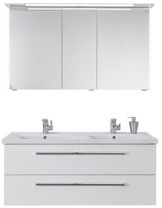 BADEZIMMER Weiß - Weiß, Design, Glas/Keramik (121cm) - DIETER KNOLL