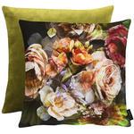 KISSENHÜLLE Grün, Multicolor, Hellrot  - Hellrot/Multicolor, KONVENTIONELL, Textil (46x46cm) - Landscape