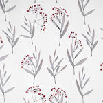 VORHANGSTOFF per lfm Verdunkelung - Rot/Graphitfarben, KONVENTIONELL, Textil (150cm) - Esposa