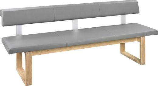Sitzbänke Holz sitzbank in holz leder eichefarben grau kaufen xxxlutz