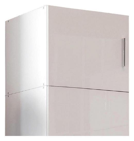 AUFSATZSCHRANK 50/40/40 cm Weiß - Chromfarben/Weiß, KONVENTIONELL, Kunststoff (50/40/40cm) - Xora