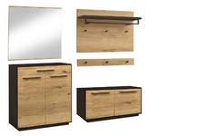 GARDEROBE - Eichefarben/Anthrazit, Design, Holz/Holzwerkstoff (182/195/37cm) - Dieter Knoll