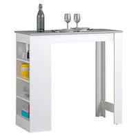 BARTISCH in Holzwerkstoff - Weiß/Grau, Design, Holzwerkstoff (115/103/50cm)