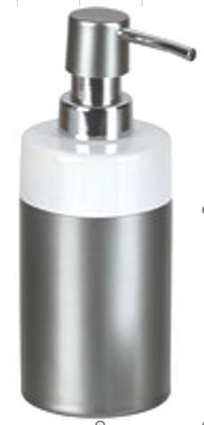 DOZATOR TEKUĆEG SAPUNA - antracit, Basics, plastika/keramika (6.7/17.5/6.7cm) - Celina