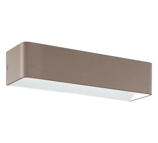 LED-WANDLEUCHTE - Nickelfarben, Design, Metall (36,5/8cm)
