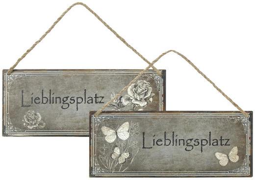 DEKOSCHILD - Grau, LIFESTYLE, Metall (30,5/13/cm)