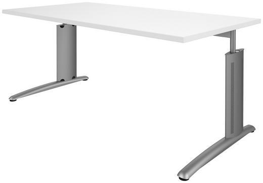 SCHREIBTISCH Alufarben, Weiß - Alufarben/Weiß, Design, Metall (160/68-82/80cm) - Moderano