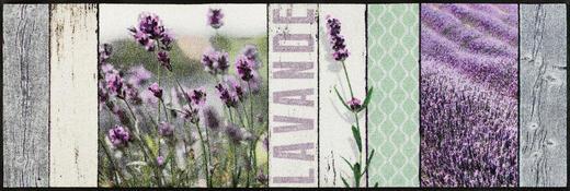 FUßMATTE 60/180 cm Lavendel Hellgrün, Violett - Violett/Hellgrün, Basics, Kunststoff/Textil (60/180cm) - Esposa