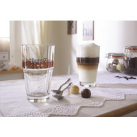 2 Latte Macchiato Becher 4-teilig - Basics, Glas (0,4l) - Leonardo