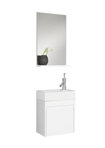 KUPAONICA - bijela, Design, drvo/keramika (45/170/25cm) - Xora